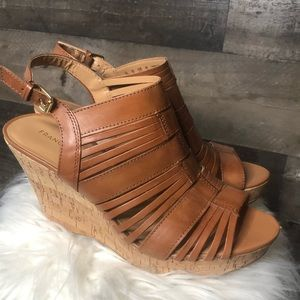 Franco Sarto Sharp Wedge Sandals